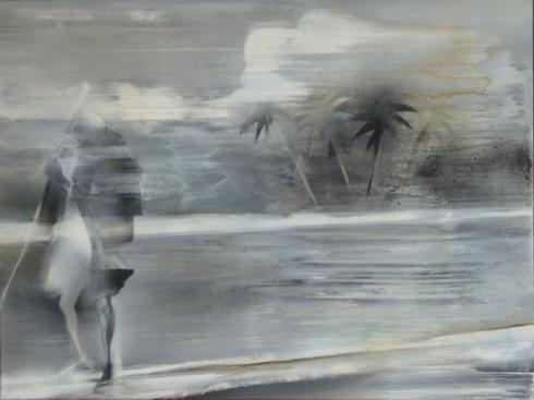 "Natural Mystic"", 2008, Acryl/Tinte auf Leinwand, 60 x 80 cm"